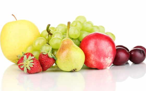 ягоды, фрукты, яблоки, виноград, сливы, груши, клубника,