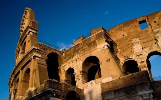 колизей, рим, italy, амфитеатр, architecture, город,