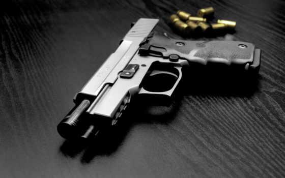 пистолет, патроны, оружие,