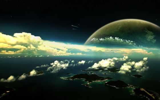 космос, атмосфера, планеты