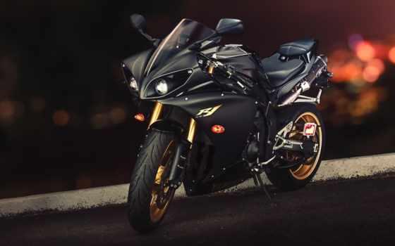 yamaha, мотоцикл, просмотреть, yzf, xvs, байк, полночь, star,