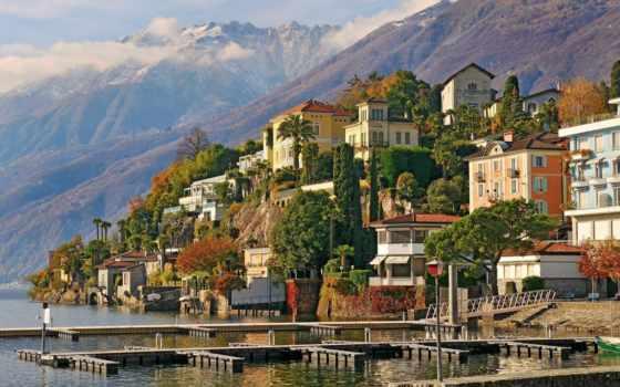 аскона, швейцария, горы