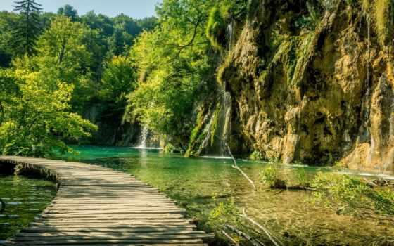 plitvice, природа, лес, озера, pantalla, seen, plitvicer, die, les, see, montañas,
