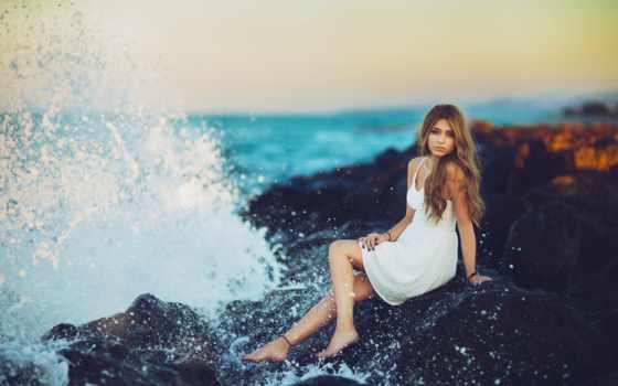 девушка, пляж, fashion, cute, pretty, girls, you, объятие,