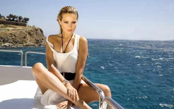 яхта, девушка, лодка, петра, lorem, ipsum, море, посмотрите, взгляд, nemcova, модель,