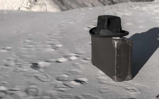 картинка, шляпа, чемодан, девушка, popular, desktop, очки, чемодане, черная,