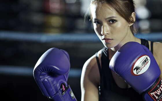 бокс, спорт, девушка