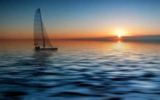 море, яхта, лодка