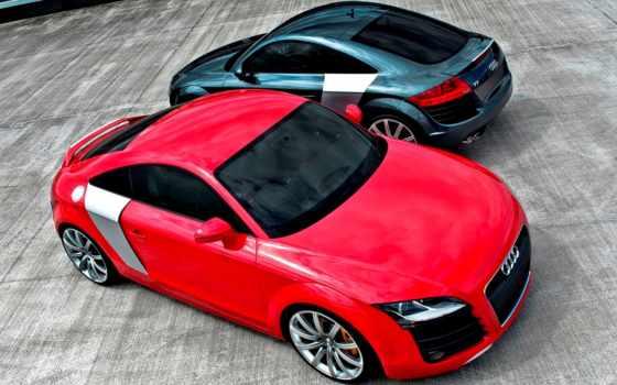 красный черный автомобиль Audi TT red black car бесплатно