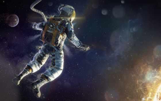 cosmos, астронавт, звезды, art, скафандр, sun,