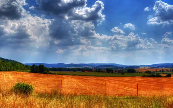 поле, забор, дек, summer, закат, колдовало, distance, gate, камень, янв,