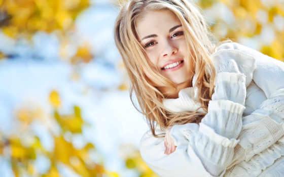 девушка, blonde, улыбка, настроение, красивая, лицо, осень, года, time, море,