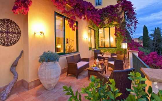house, цветы, красивый, интерьер, цвета, улица, терасса, украсить, балкон, community, white