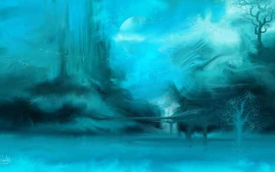 art, лед, underwater, digital, пещера, арта, отражение, дерево, ocean, волна, fantasy