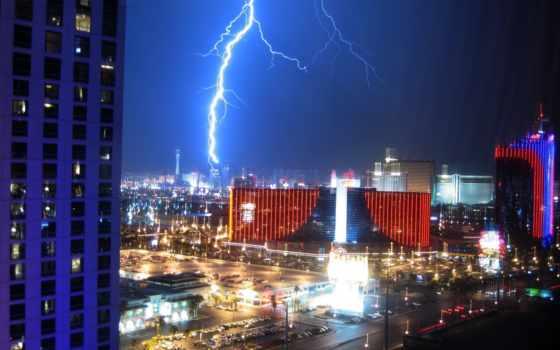 lightning, vegas