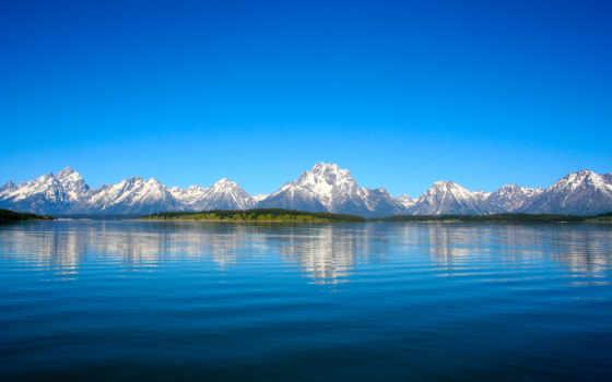 природа, озеро, вода