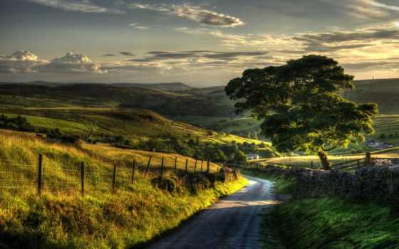 природа, небо, листва, разное, холмы, трава, широкоэкранные, дорога, зелёный,
