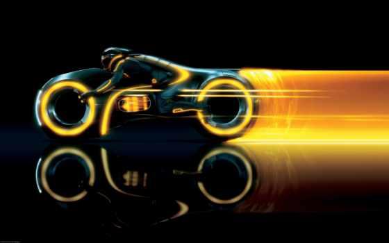 трон, legacy, след, мотоцикл, tron, виртуальность, мотоциклы, бесплатные, загружено, герой,