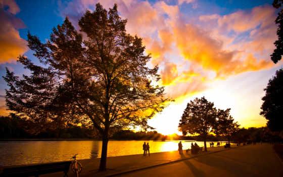 закат, красивый, природа, море, солнца, красивые, reki, favourite,