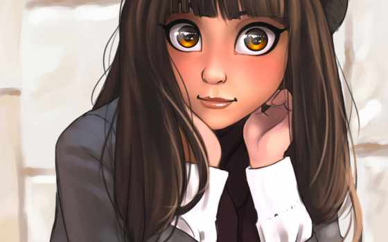 eyes, anime, девушка, май, биг, sakaali, лицо, art, графика,