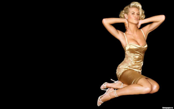 celebrity, charlize, theron, blonde, black, фон, платье