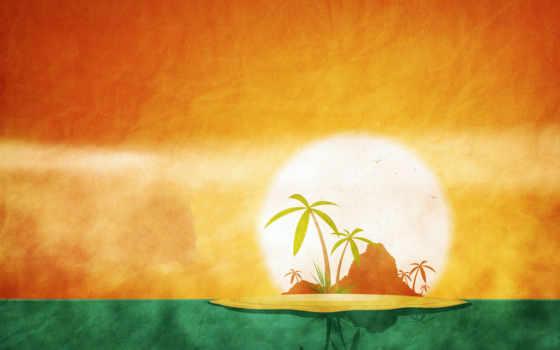 лето, солнце, остров