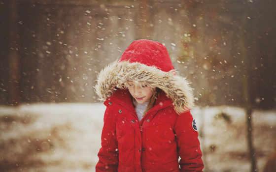 снег, winter, девушка