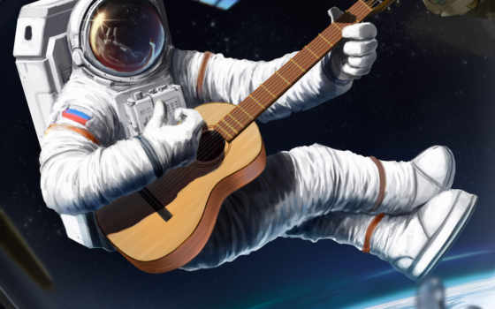космосе, космонавт, космос