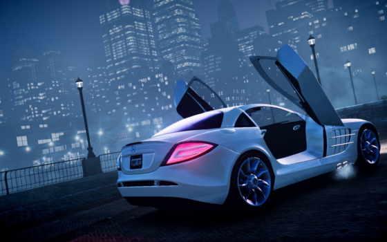 машина, ночь, туман