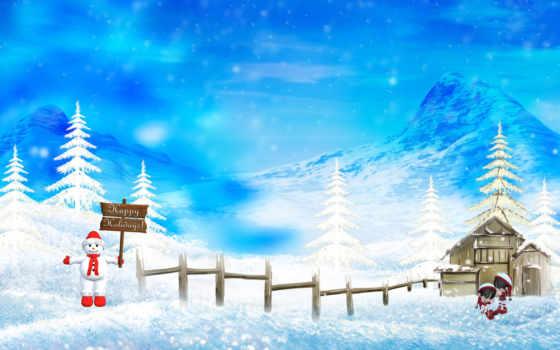 christmas, снег, фон