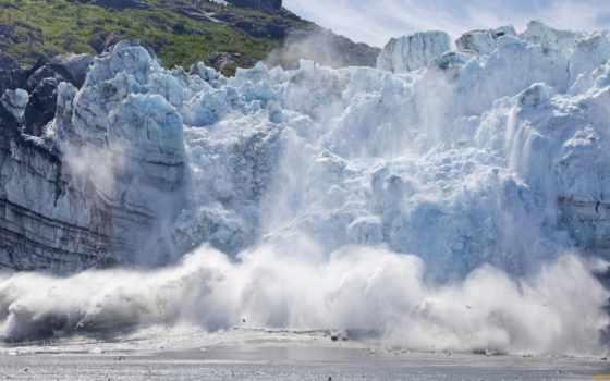 glacier, national, park, bay, аляска, природа, американский, сша, море, обвал,