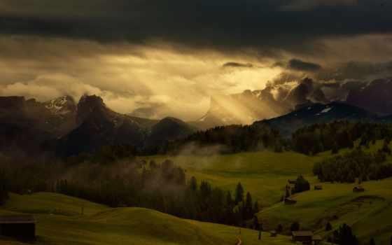 небо, против, дождем, банка, горах, темнеет, вами,