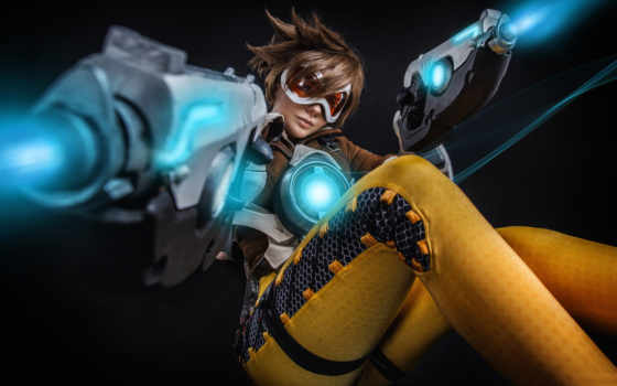 overwatch, cosplay, трейсер, tracer, rp, grand, video, best, views, pair,