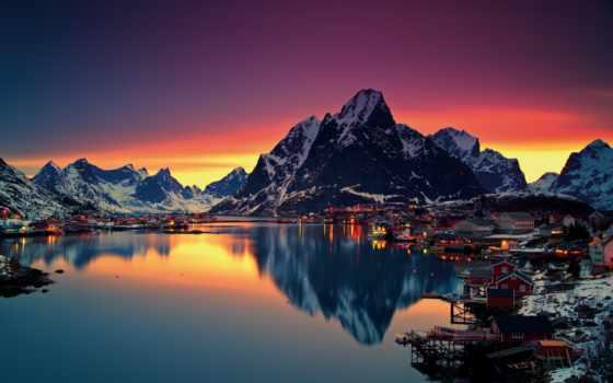 norwegian, викингов, фьордами, мыса, европы, точки, северной, самой, circle, polar, сзади,