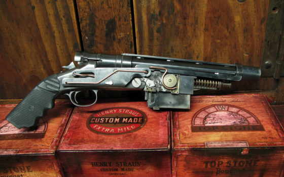 gun, steampunk