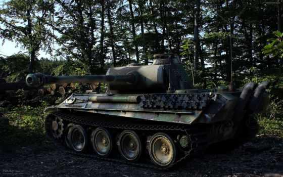пантера, техника, танк, военная, вторая, война, мировая, картинку,