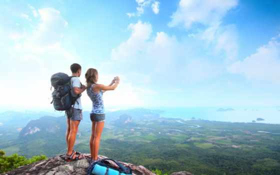 couple, mountain