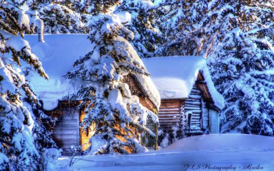 аляска, зима, снег