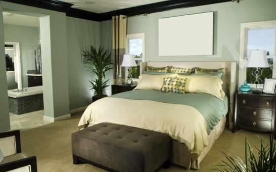 спальня, интерьер, дизайн