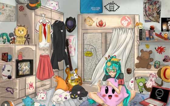 anime, art, комната
