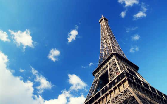 эйфелева, eiffel, turret, башня, париж, страны, ubuntu, free, мира,