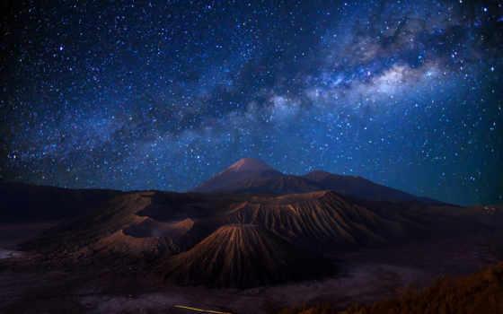 вулкан, остров, индонезия, ява, бромо, картинка, картинку,