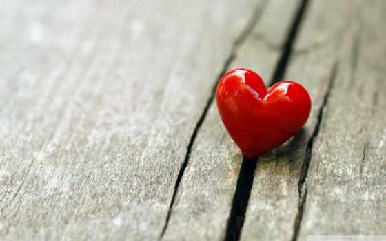 сердце, фигура, древесина, блеск, красный
