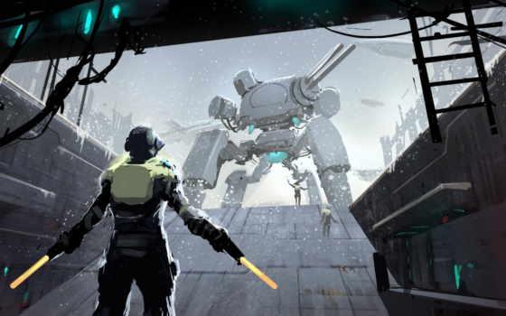 меча, futuristic, fantasy