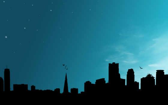 город, виды, силуэт, ночь, городов, ночных, reason,