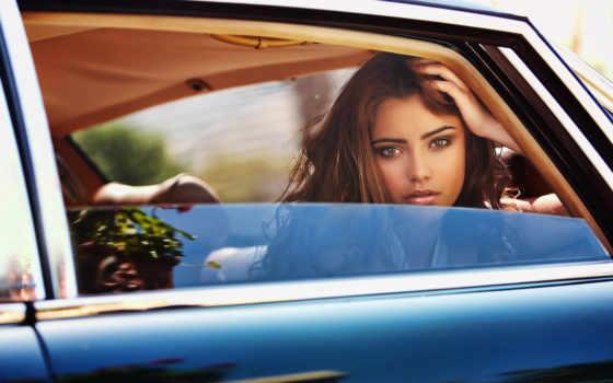 девушка, взгляд, окно, машина, natanielle, camargo,