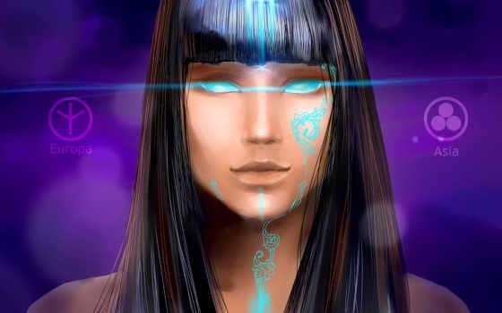 fantasy, devushki, portrait, стиль, девушка, орлан, art, картинка, графика, векторная, рисунок,