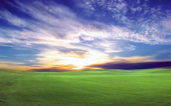 рассвет, природа, early, часть, утром, vista, windows, разные,