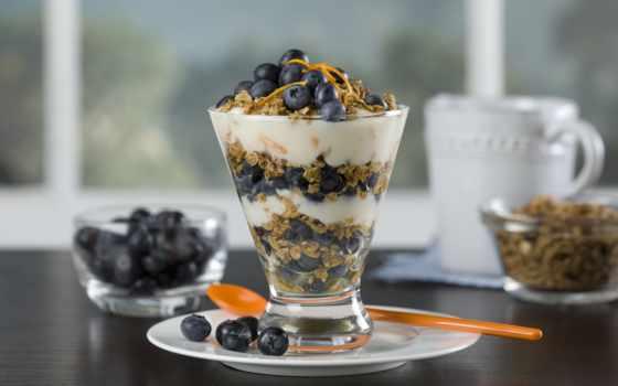 завтрак, blueberries, мороженое, десерт, черника, yogurt, chilean, fresh, recipes,