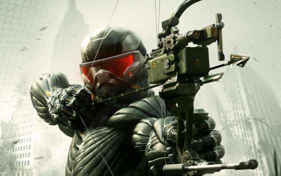 crysis, оружие, солдат, нанокостюм, акпп, игры, video, лук, crisis, desktop,